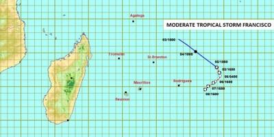 meteo-la-depression-tropicale-dans-les-mascareignes-s-est-intensifiee-en-une-tempete-tropicale-moderee-et-a-ete-baptisee-francisco