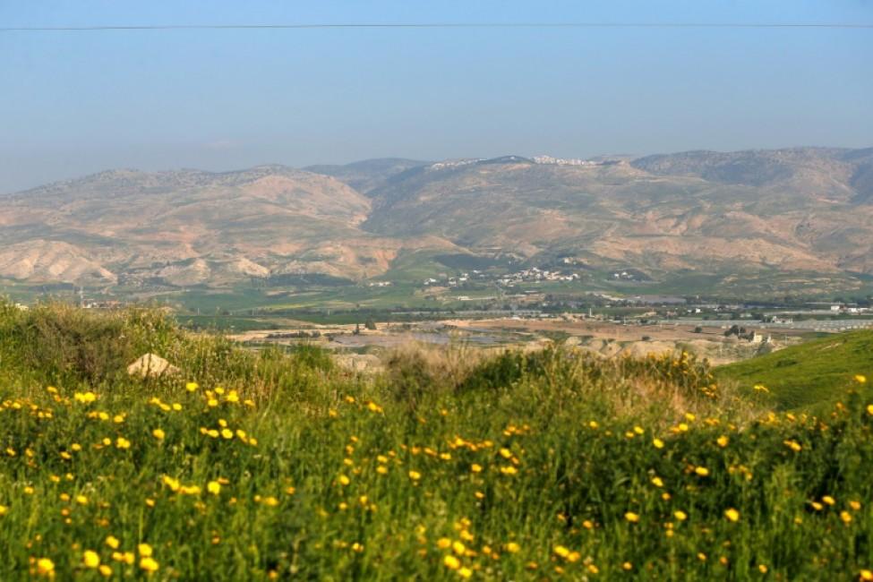 Vue générale d\'un champ près d\'une colonie israélienne dans la vallée du Jourdain, territoire palestinien occupé, le 3 mars 2020