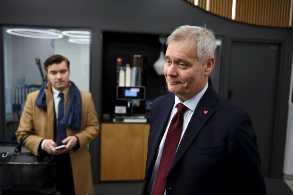 L\'ancien ministre des Finances Antti Rinne, chef de file des sociaux-démocrates, le 15 avril 2019 à Helsinki