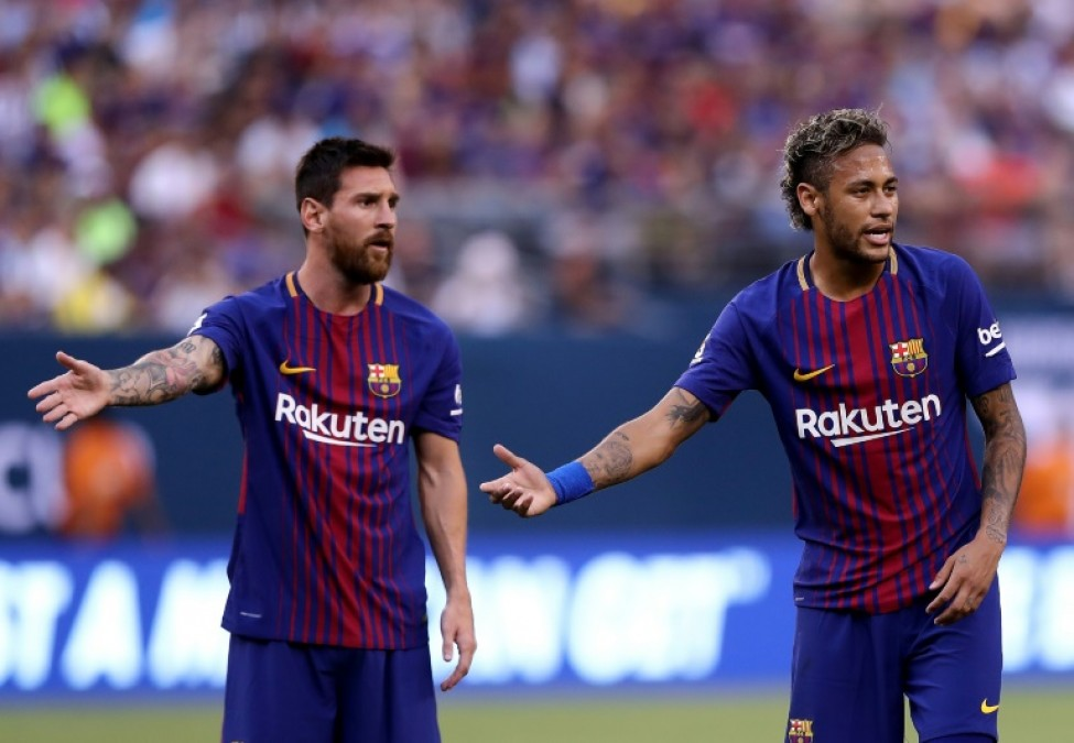 Neymar won two La Lga titles and the Champions League alongside Messi at Barcelona
