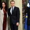 Emmanuel Macron accueille la Première ministre néo-zélandaise Jacinda Ardern le 16 avril 2018 à l\'Elysée
