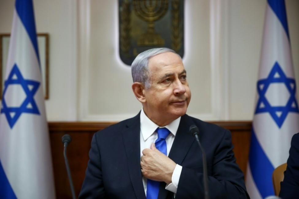 Photo d\'archives du Premier ministre israélien Benjamin Netanyahu lors d\'une réunion du gouvernement, le 30 juin 2019 à Jérusalem