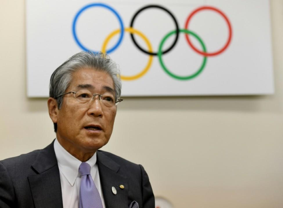 Le président du comité olympique japonais Tsunekazu Takeda lors d\'un entretien avec l\'AFP, le 19 janvier 2018 à Tokyo