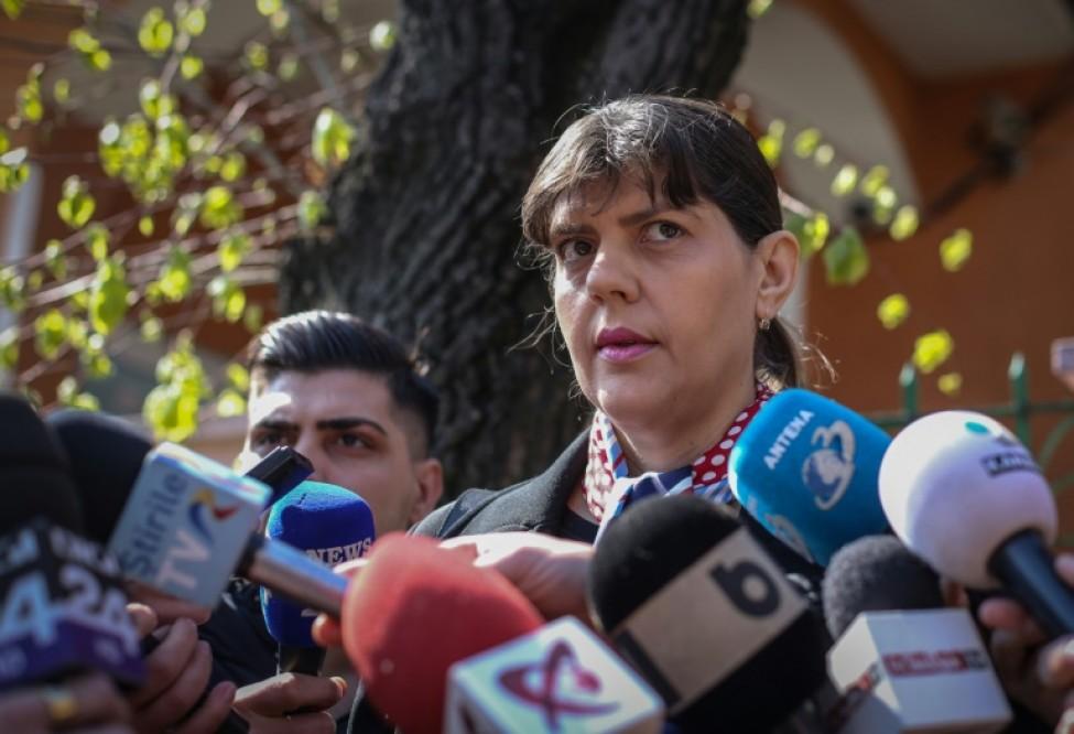 La magistrate roumaine Laura Codruta Kovesi, le 29 mars 2019 à Bucarest en Roumanie