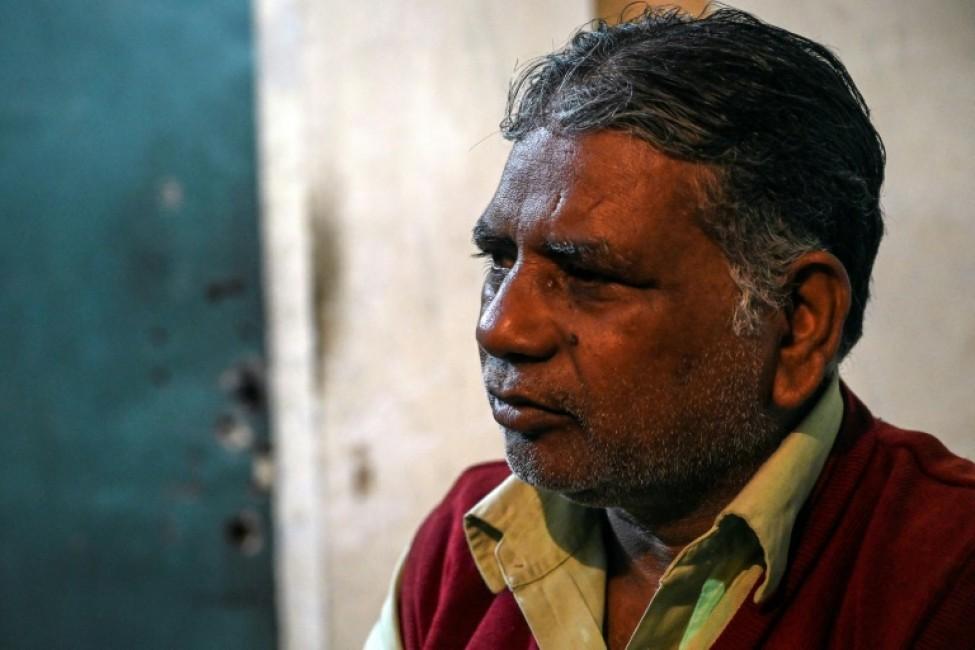 Pawan Kumar, l\'homme qui va pendre quatre hommes condamnés à mort, répond à l\'AFP lors d\'un entretien chez lui à Meerut (Uttar Pradesh), le 23 janvier 2020