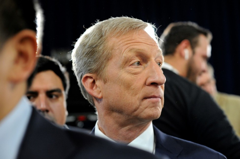 Tom Steyer, le 7 février 2020 dans le New Hampshire