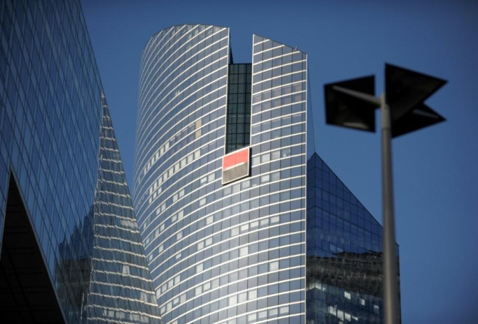 Le siège de la Société générale à La Défense près de Paris le 12 février 2014
