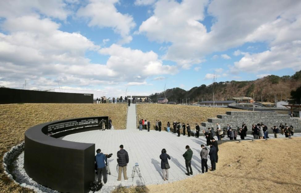 Hommage aux victimes du tsunami de 2011 au Mémorial de Kamaishi, le 11 mars 2020 au Japon