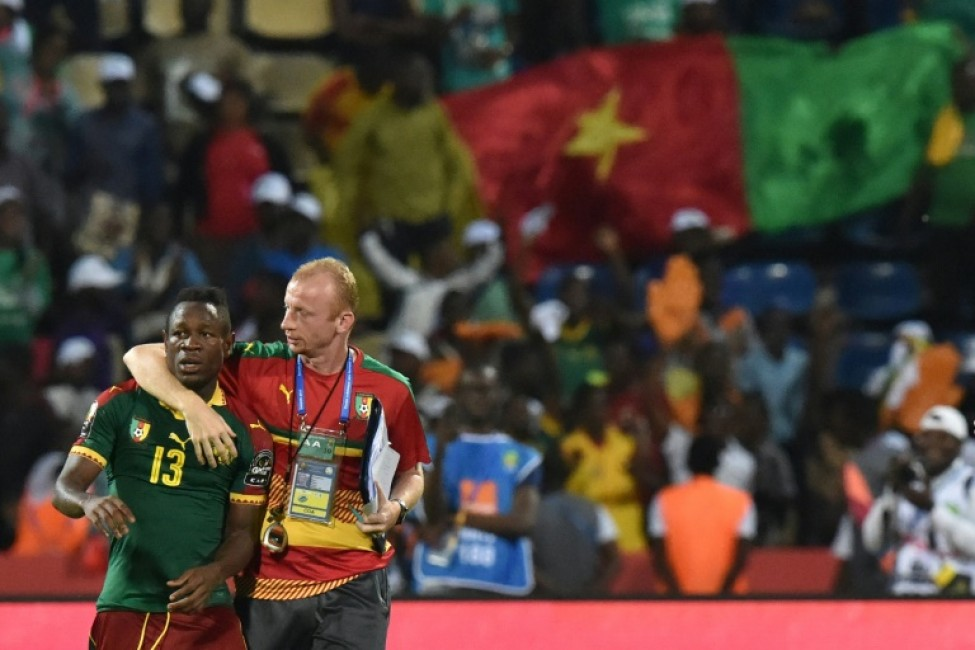 Zambia coach Sven Vandenbroeck (R), who was assistant coach of 2017 Cup of Nations champions Cameroon (pictured March 2017), said the match was one they \