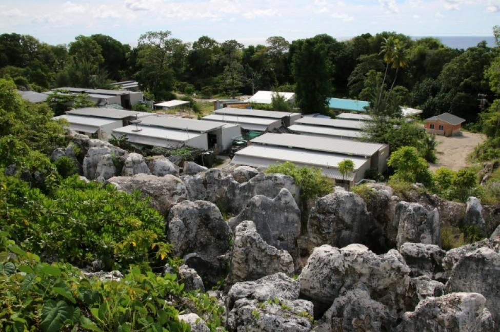 Vue du camp de réfugiés n°4 de Nauru, île du Pacifique où sont relégués les réfugiés refoulés par l\'Australie, prise le 2 septembre 2018.