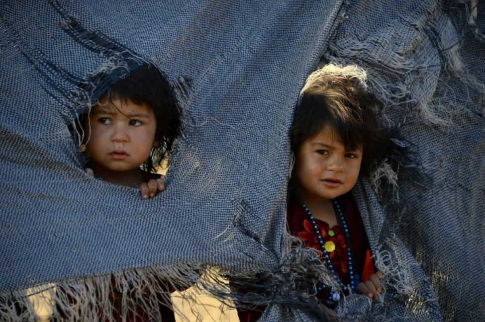 Des enfants dans un camp de déplacés en Afghanistan, le 5 août 2018