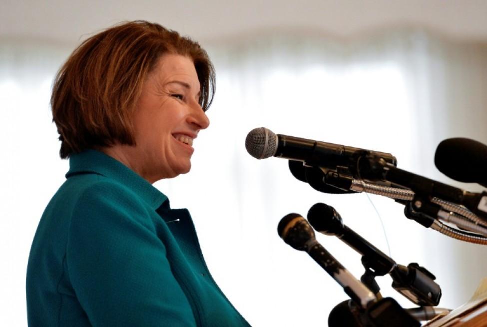 Amy Klobuchar à Nashua, dans le New Hampshire le 10 février 2020