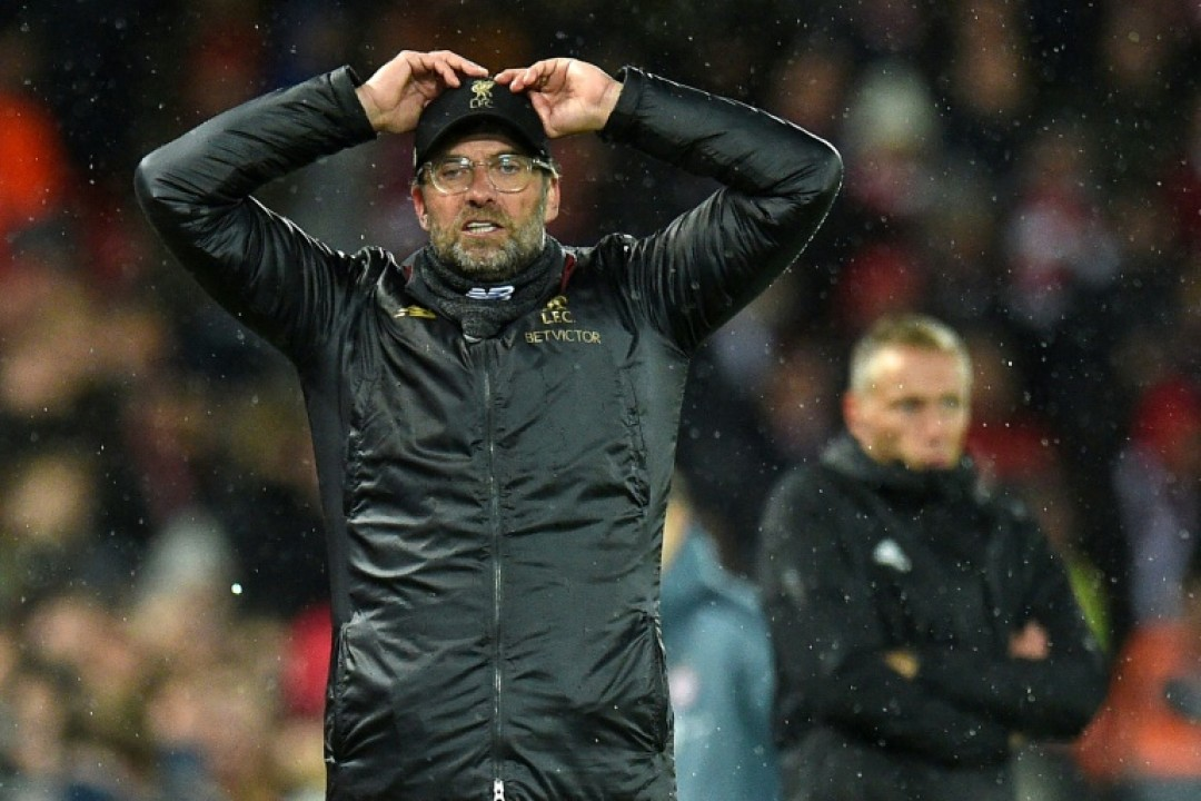 Jurgen Klopp shows his frustration as Liverpool are held by Bayern Munich