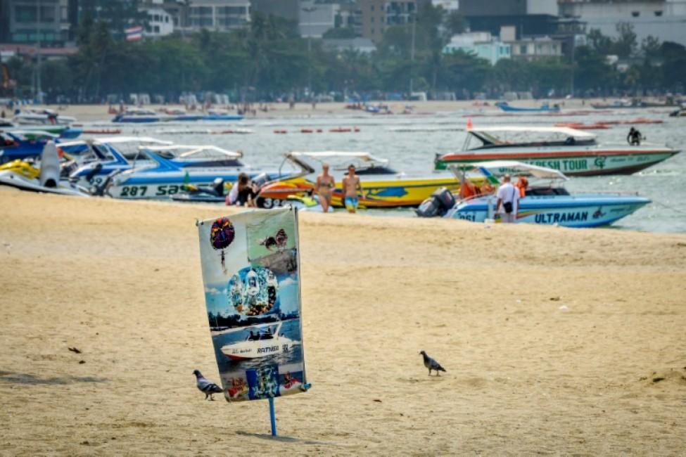 Une plage désertée à Pattaya, le 12 février 2020 en Thaïlande