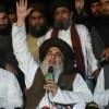 Mené par le religieux Khadim Hussain Rizvi (ici à Lahore le 2 novembre 2018), le parti a fait du blasphème une arme politique