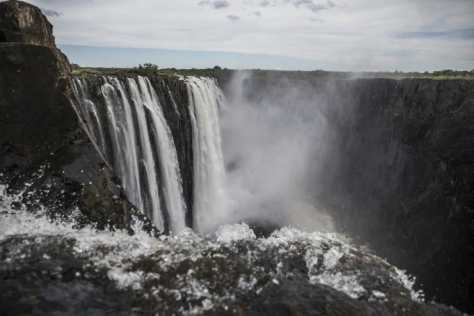 Les chutes Victoria côté zambien le 23 janvier 2020