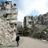 Des quartiers détruits par les combats entre les rebelles et le régime syrien à Alep. Photo prise le 11 février 2019