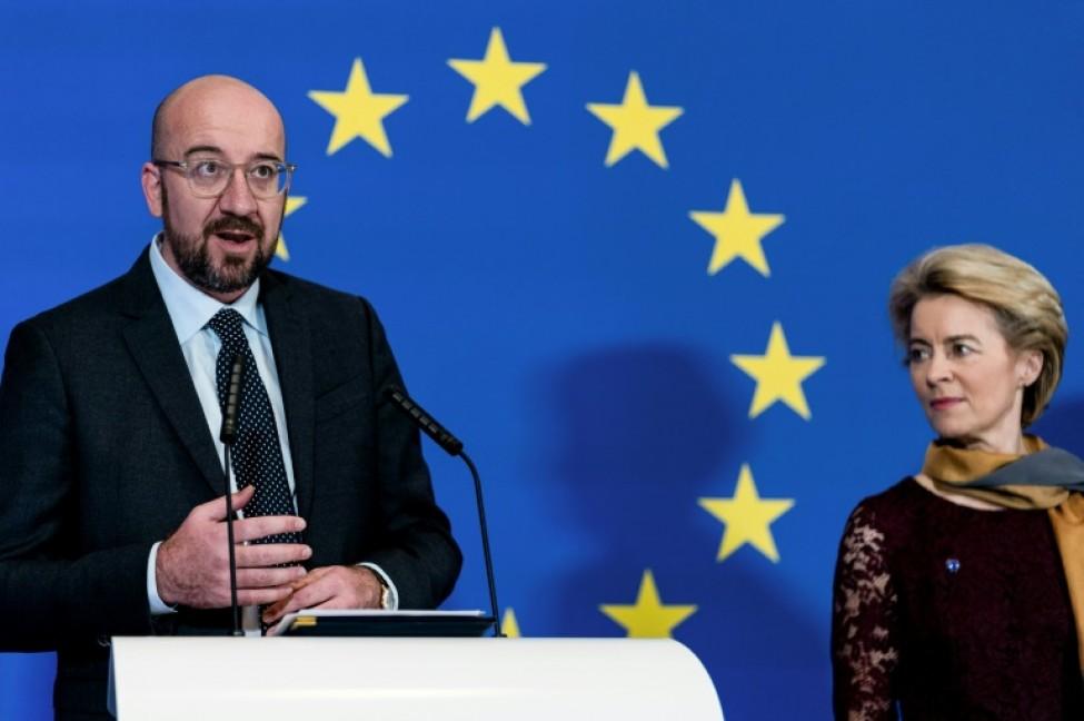 La présidente de la Commission européenne Ursula von Leyen et le président du Conseil européen Charles Michel, le 1er décembre 2019 à Bruxelles