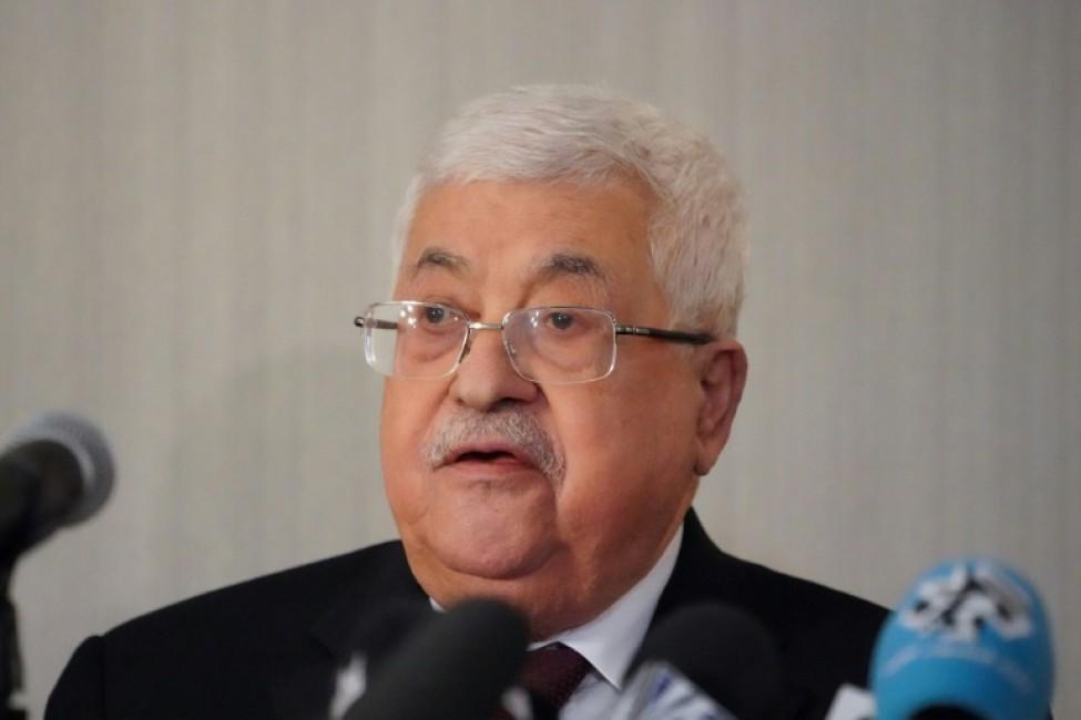 Le président palestinien Mahmoud Abbas s\'exprime le 11 février 2020 sur le plan américain de règlement du conflit israélo-palestinien à New York