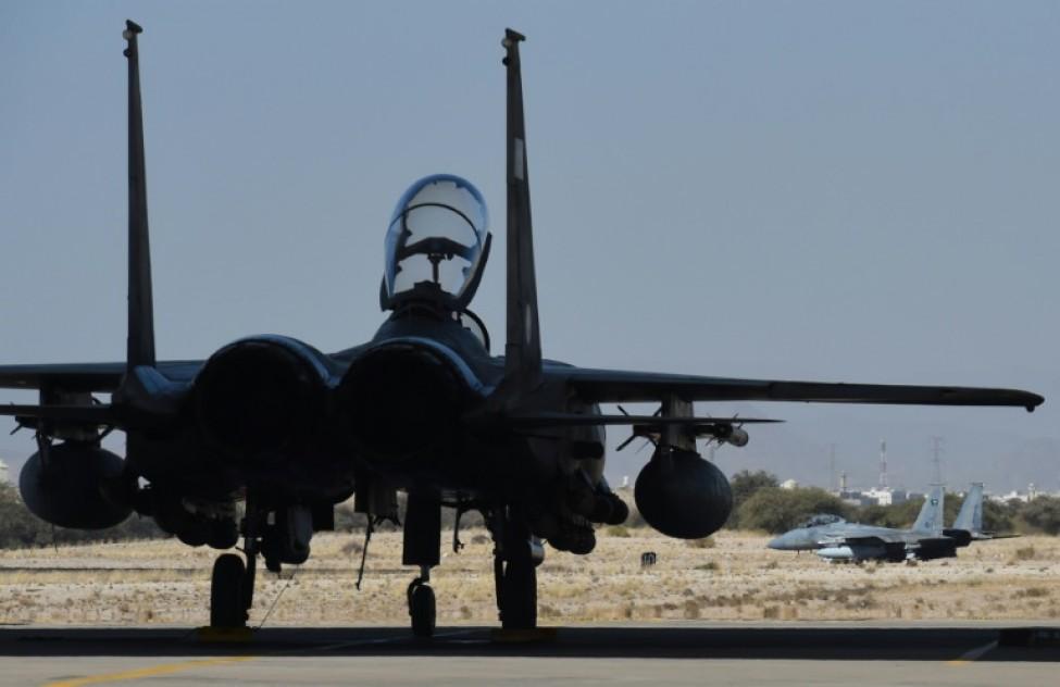 Un avion de combat F-15 saoudien prêt à décoller de la base Roi Khaled, le 16 novembre 2015 à Khamis Mushait