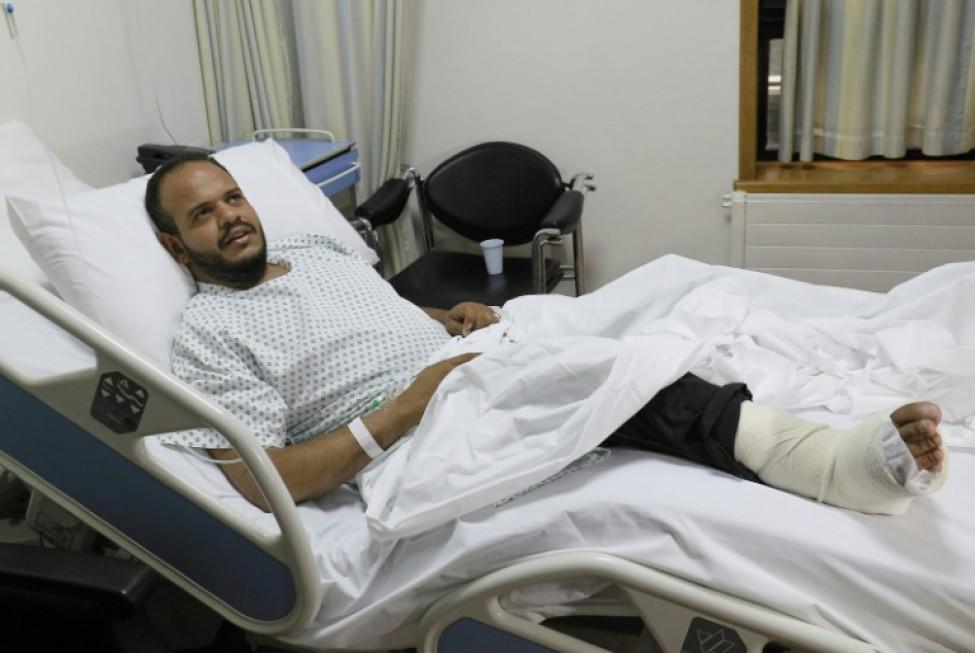 Le Yéménite Hashem Abdallah, âgé de 28 ans, attend d\'être opéré dans un hôpital de la capitale jordanienne Amman, le 11 février 2020