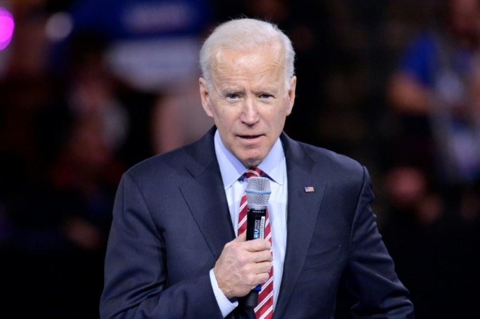 L\'ancien vice-président Joe Biden à Manchester, dans le New Hampshire, le 8 février 2020