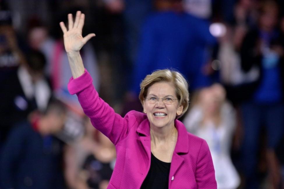 Elizabeth Warren à Manchester, dans le New Hampshire, le 8 février 2020