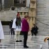 La chancelière allemande Angela Merkel se recueille sur la tombe du soldat inconnu à Athènes, le 11 janvier 2019 en Grèce