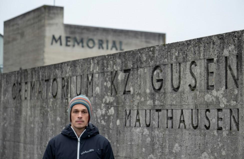 Bernhard Mühleder, historien spécialiste de l\'ancien camp nazi de Gusen, le 8 janvier 2020 à Langenstein, en Autriche