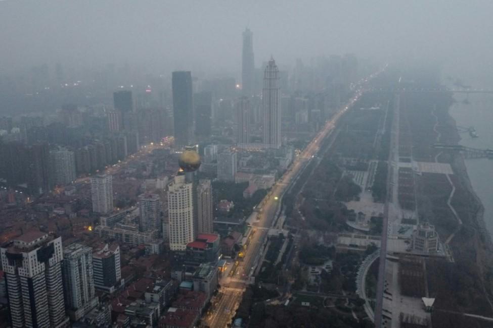 Vue aérienne de Wuhan, le 27 janvier 2020
