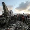 Un bâtiment détruit par une frappe aérienne israélienne le 9 août dans la ville de Gaza