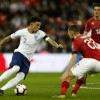 Jadon Sancho (L) picked up an assist in England\'s win over the Czech Republic on Friday