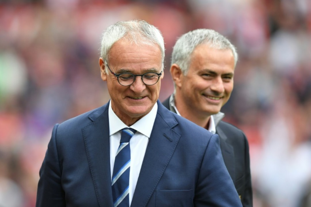 Claudio Ranieri (left) says Manchester United manager Jose Mourinho welcomed him back to the Premier League