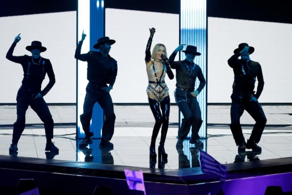 La candidate chypriote Tamta lors des demi-finales de la 64e édition de l\'Eurovision, le 14 mai 2019 à Tel-Aviv, en Israël