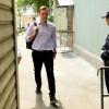 L\'opposant russe Alexeï Navalny arrive au tribunal à Moscou, le 15 mai 2018