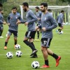 Iran\'s players attend a training session in Bakovka outside Moscow on June 12, ahead of the Russia 2018 World Cup football tournament