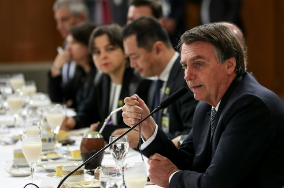 Le président brésilien Jair Bolsonaro le 19 juillet 2019 à Brasilia au Brésil (photo transmise par la présidence brésilienne)