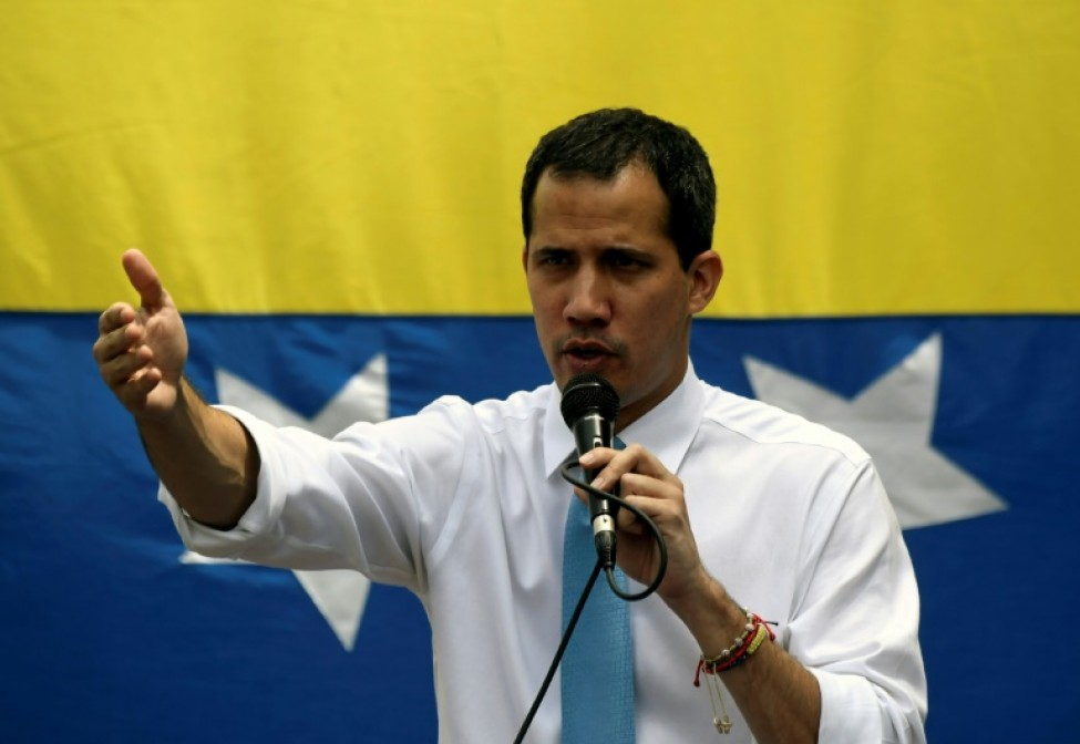Le chef de file de l\'opposition vénézuélienne Juan Guaido, le 10 mars 2020 à Caracas