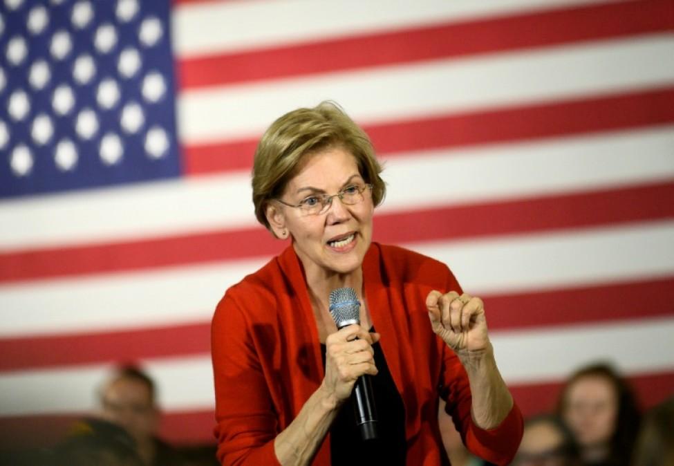 Elizabeth Warren en campagne dans l\'Iowa le 26 janvier 2020
