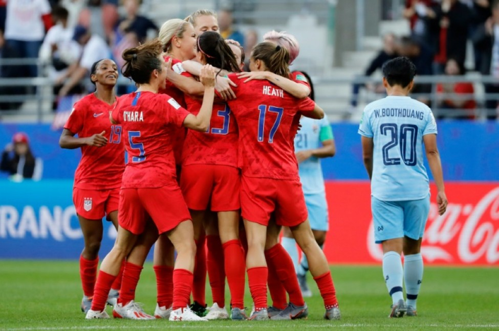 The Americans\' exuberant celebrations were criticised in some quarters