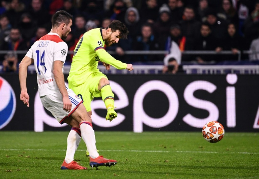 Lionel Messi and Barcelona were frustrated in a 0-0 draw in Lyon in the first leg of their Champions League last-16 tie
