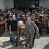 Thousands of people, including his former teammates, attended Emiliano Sala\'s funeral in his home town of Progreso in Argentina