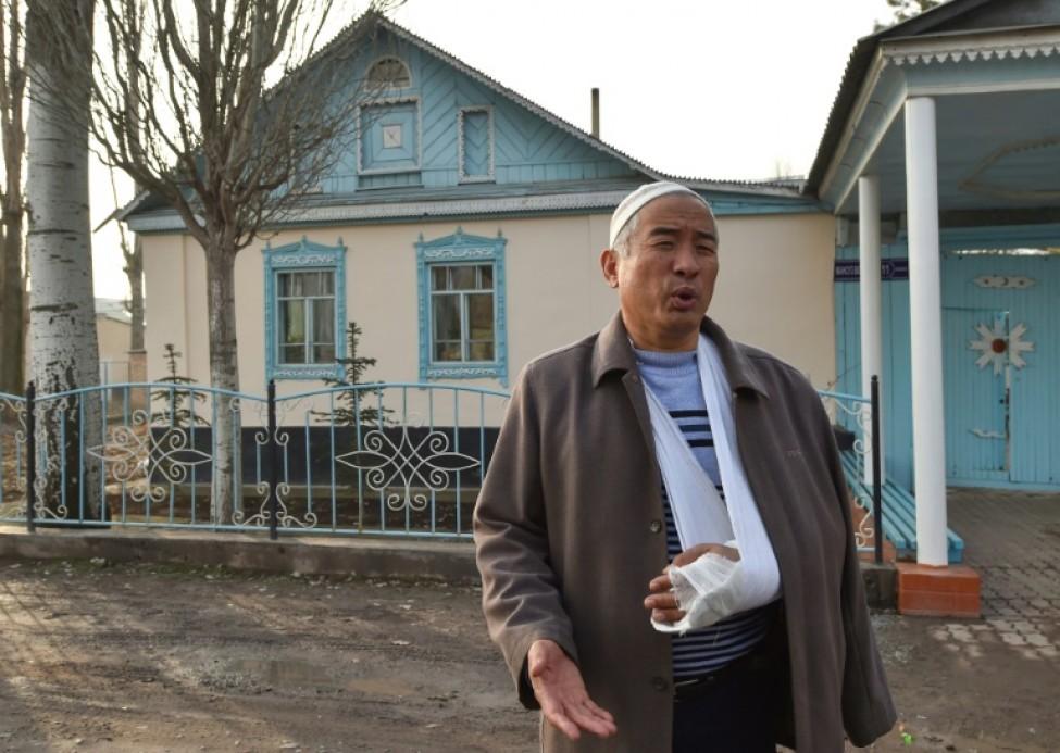Khousseï Daourov, lors d\'une interview avec l\'AFP à Sortobe, le 12 février 2020 au Kazakhstan