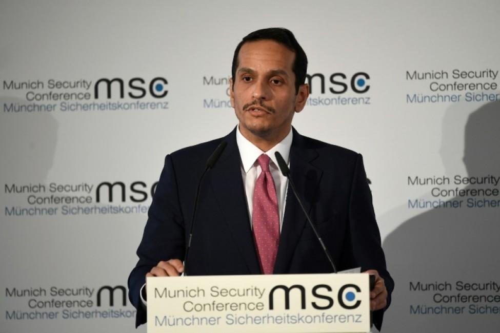 Le ministre des Affaires étrangères du Qatar, Mohammed ben Abderrahmane Al-Thani, parle lors de la Conférence sur la sécurité de Munich, en Allemagne, le 15 février 2020