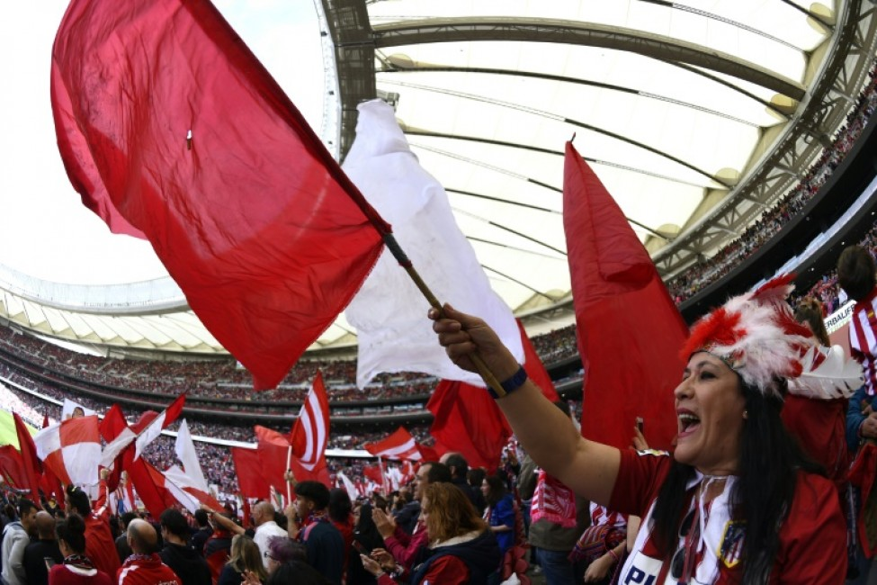 More than 60,000 people watched Atletico Madrid play Barcelona at the Wanda Metropolitano stadium in a women\'s La Liga game on March 17