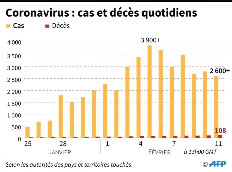 Coronavirus:cas et décès quotidiens