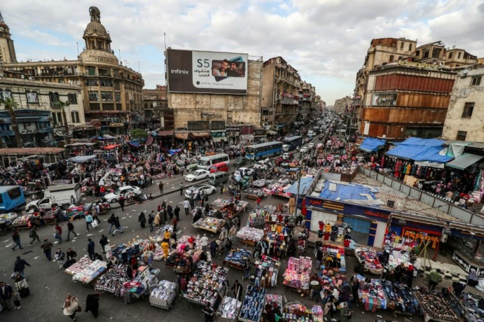 Une vue générale d\'une place du Caire, la capitale égyptienne, le 11 février 2020