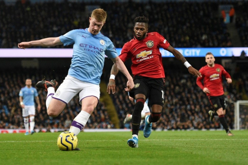 Target? Manchester United\'s Brazilian midfielder Fred (right) in action on Saturday