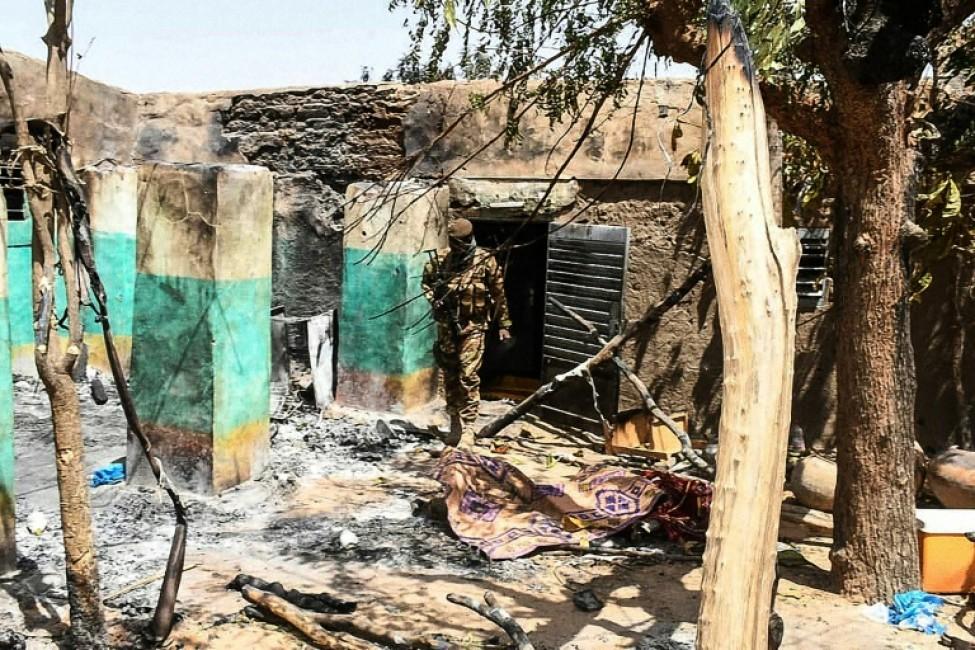 Le village d\'Ogossagou, au Mali, après le massacre de quelques 160 habitants peuls, le 25 mars 2019.