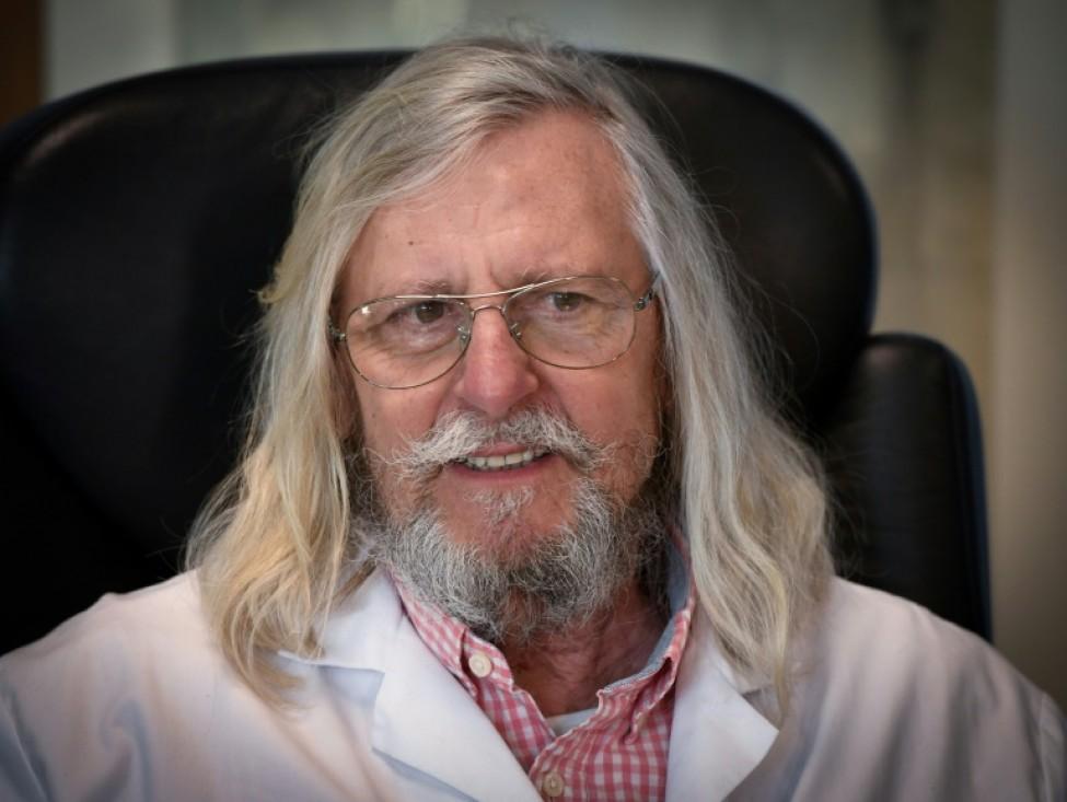 Le professeur français Didier Raoult, spécialiste des maladies infectieuses et promoteur du traitement du Covid-19 par l\'hydroxychloroquine, le 26 février 2020 à Marseille